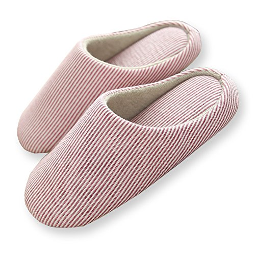 HaloVa Home Slippers, Closed Toe Indoor House Bedroom Footwear Shoes Non-Slip Sole for Women Girls Ladies by HaloVa