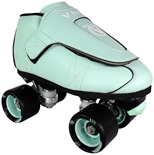 VNLA Mint Jam Skates | Quad Roller Skates from Vanilla - Indoor Speed Skates - Leather - for Tricks and Rhythm Skating (Mens 5 / Ladies 6) ()