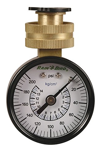 Rain Bird P2A Water Pressure Test Gauge, 3/4 Female Hose Thread, 0-200 PSI