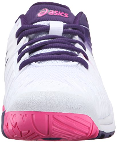 ASICS Women'S Gel-Resolution 6 Tennis Shoe, White/Parachute Purple/Hot Pink, 5 M US