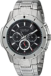 Bulova Men's Quartz Stainless Steel Casual Watch, Color:Silver-Toned (Model: 43A137)