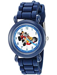 Boy's 'Mickey Mouse' Quartz Plastic and Silicone Casual Watch, Color:Blue (Model: WDS000167)