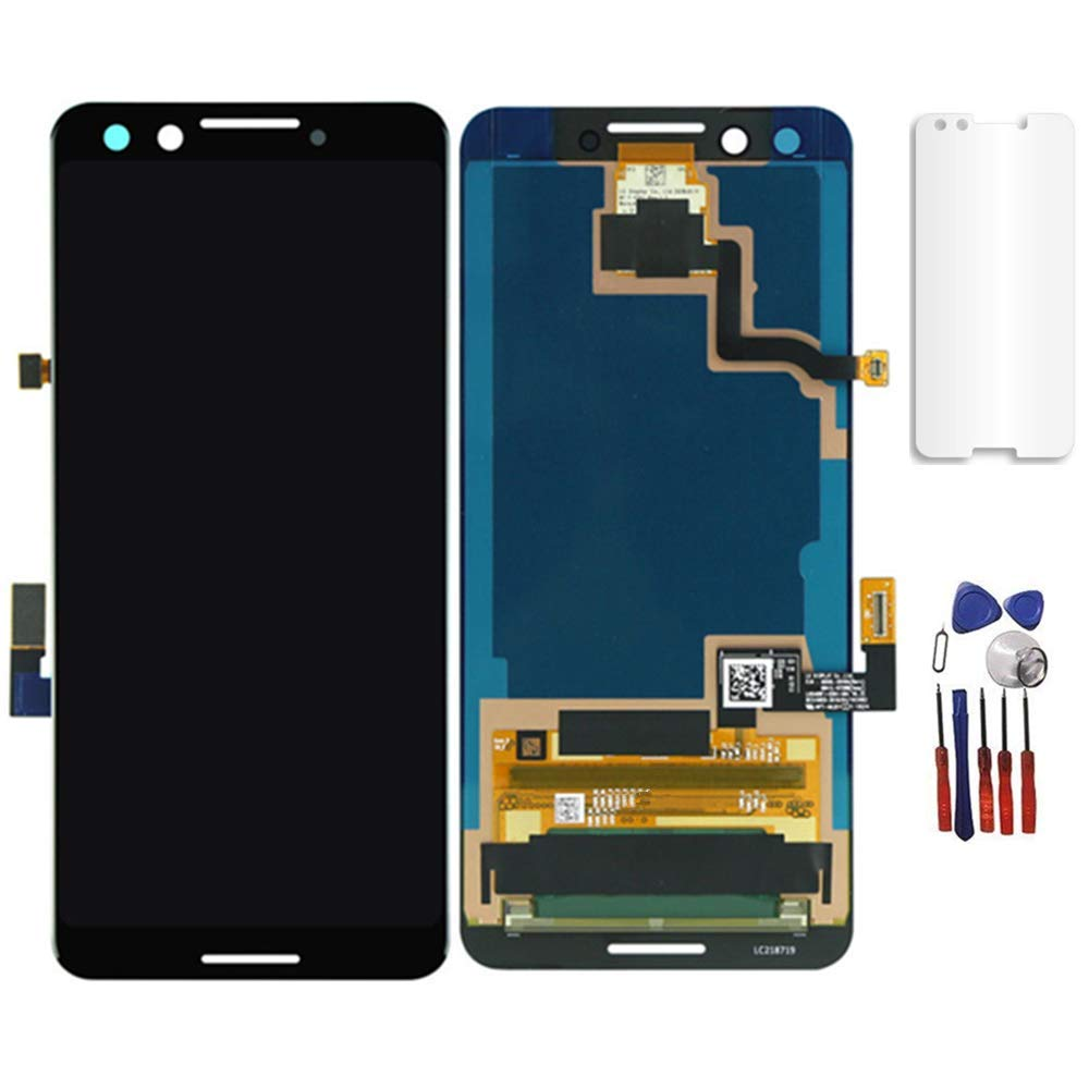Glass LCD Display Touch Screen Digitizer Assembly Replacement Part Compatible for Google Pixel 3 5.5'' Screen Replacement