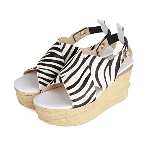 AmoonyFashion Womens Open Toe High-Heels Soft Material Assorted Colors Pull-on Sandals White nqqg4n