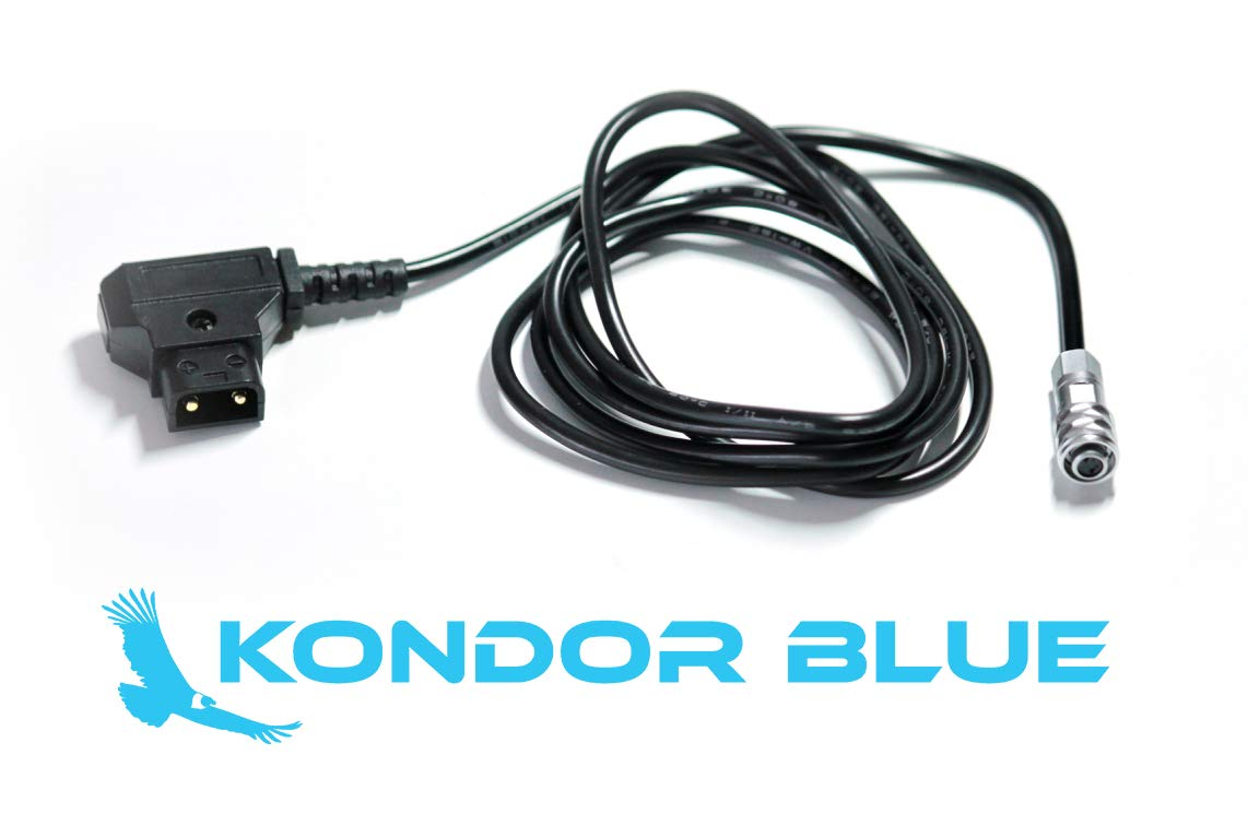 KONDOR BLUE 4FT D-Tap to BMPCC 4K Power Cable for Blackmagic Pocket Cinema Camera 4K and Gold Mount V Mount Battery P TAP Weipu