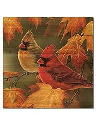 WGI Gallery WA-MLC-2424 Maple Leaves & Cardinals Wall Art