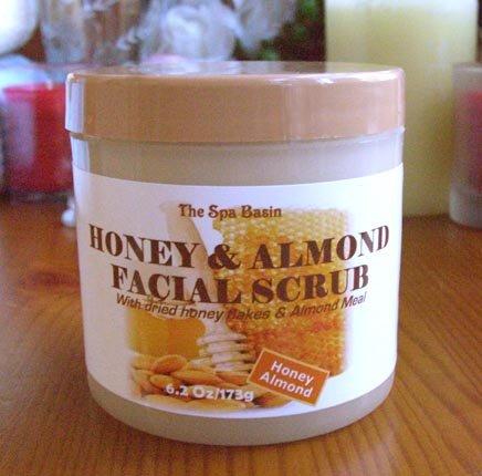 Honey & Almomd Facial Scrub/Pure Honey/Pure Almond Meal/6.2 Oz