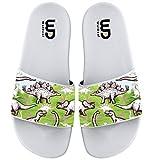 Dinosaurs Footprints Seamless Summer Slide Slippers For Girl Boy Kid Non-Slip Sandal Shoes size 2