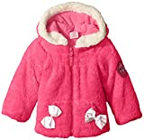U.S. Polo Assn. Baby-Girls Coral Fleece Shell Jacket, Pink Moon, 24 Months