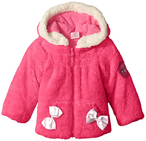 - U.S. Polo Assn. Baby-Girls Coral Fleece Shell Jacket, Pink Moon, 24 Months