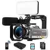 Ordro AZ50 4K 30fps 3840X2160 Camcorder Video Camera 1080P 60FPS,3.1