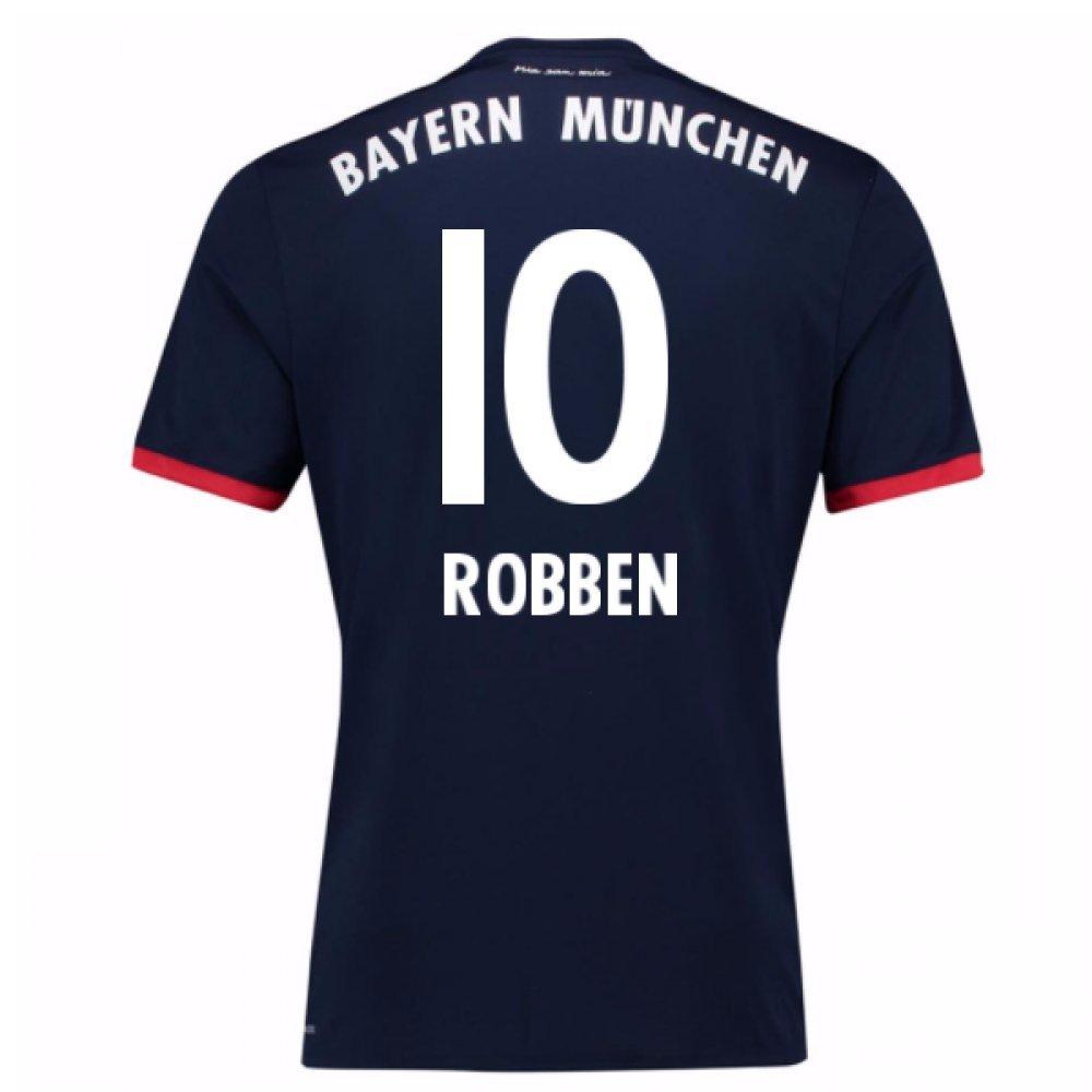 2017-18 Bayern Away Football Soccer T-Shirt Trikot (Arjen Robben 10)