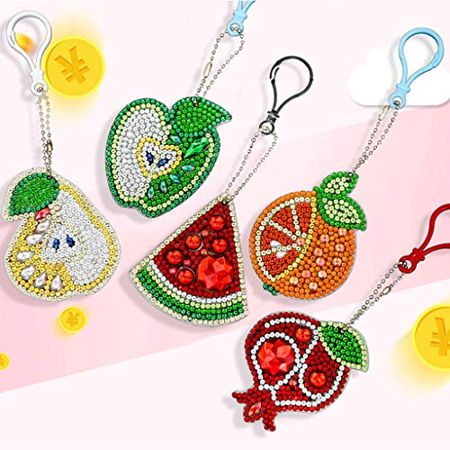 5D DIY Fruit Diamond Painting Kits Keychain Pendant Kits