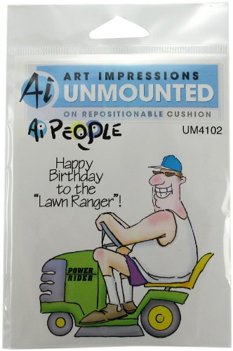 Art Impressions The Lawn Ranger Set Rubber Stamp by Art Impressions