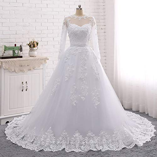 Amazon Com Convertible Two Piece Lace And Beads Wedding Dresses