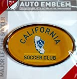 LA Galaxy Los Angeles Raised Metal Domed Oval Color Chrome Auto Emblem Decal MLS Soccer Football Club