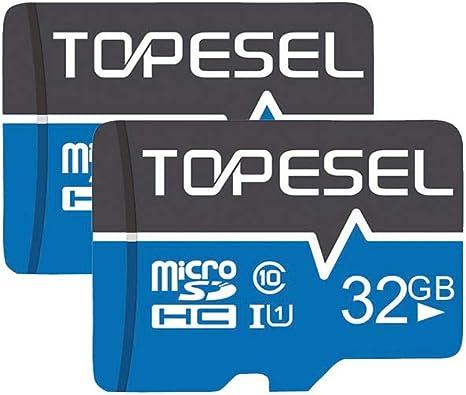 Tarjeta Micro SD 32GB, TOPESEL Tarjeta Memoria Alta Velocidad 85 ...