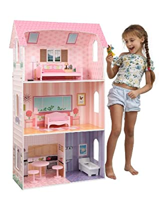 Teamson Kids Modern Doll House with furniture