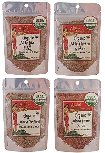 Organic Aloha Spice Company Seasoning & Rub Variety Set by Aloha Spice Company