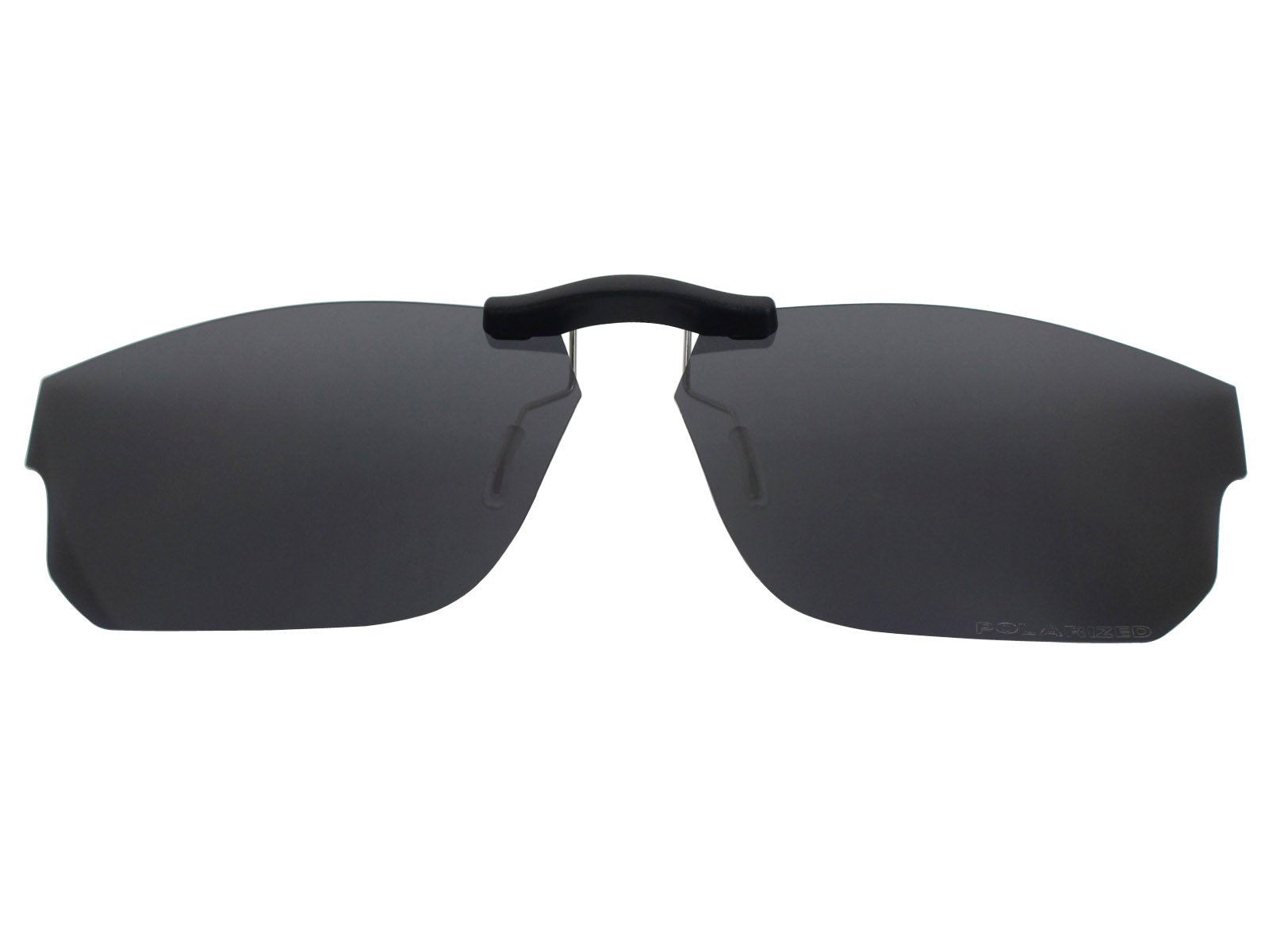 Custom Fit Polarized CLIP-ON Sunglasses For Oakley Voltage (55) OX8049 55X19 Black