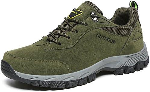 メンズ ハイキング シューズ アウトドア 登山靴 レザー スキッド 摩耗 防止 通気性 防水 ブーツ トレッキング スニーカー