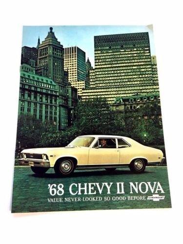 1968 Chevrolet Chevy Nova and SS 12-page Original Car Sales Brochure Catalog