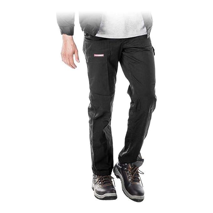 Pantalon De Trabajo Reis Pantalones De Seguridad Negros Para Hombre Multibolsillos Elasticos Construccion Bricolaje Y Herramientas Prevencion Y Seguridad