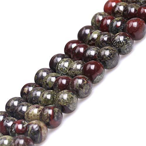 Australia Blood Jade Beads for Jewelry Making Natural Gemstone Semi Precious 8mm Round Green Red 15