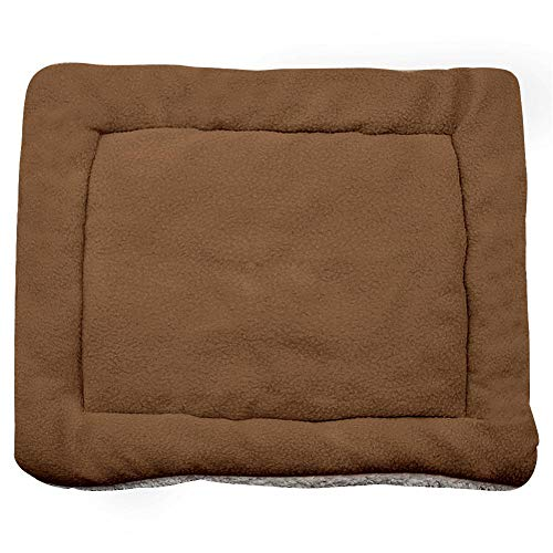 Kuntrona Warm Soft Fleece Dog Beds Mat Large Small Dogs Crate Cushion Pet Blanket Furry Bed Sofa Dogs Cats Washable Comfort Brown 43X33cm