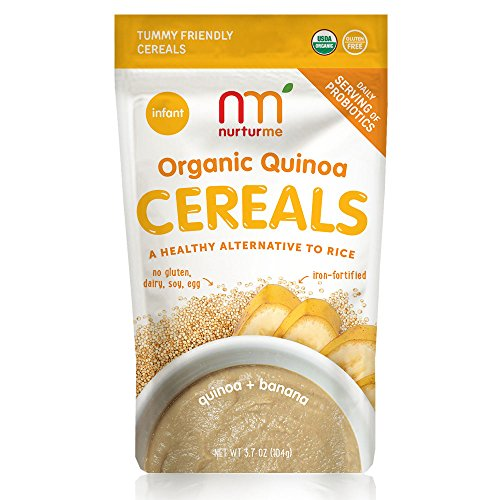 NurturMe Organic Infant Cereals, Quinoa + Banana, 3.7 Ounce