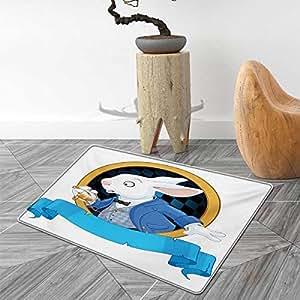 Amazon Com Alice In Wonderland Floor Mat For Kids Rabbit