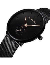 Men's Watch Unisex Minimalist Watch Waterproof Watch...