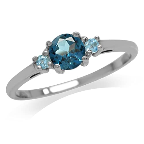 Careful Infinity Celtic Blue Topaz Heart Engagement Wedding Silver Ring Set Other Fine Rings