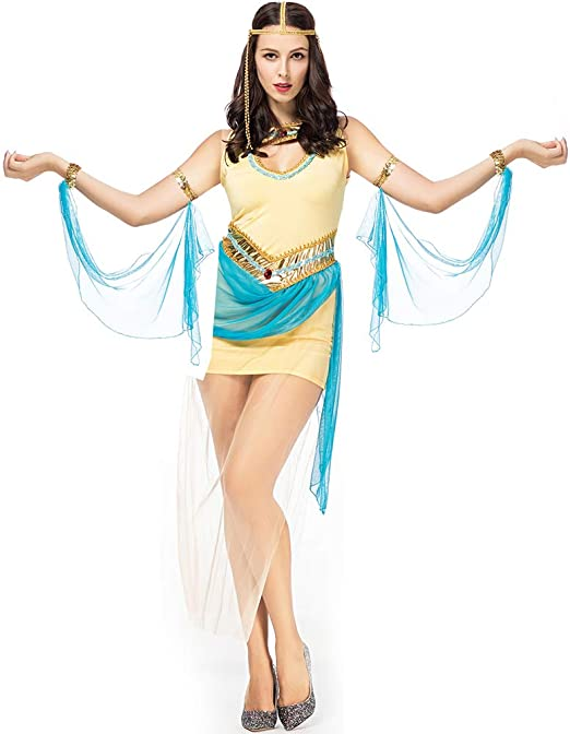 Disfraz De Halloween Mujer Corte Griega Antigua Vestido De Diosa ...