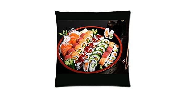 Sushi japanese-food zpc274 Art funda de cojín geométrico ...