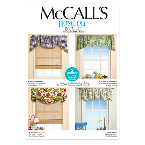Window Valance Patterns - McCall's Patterns M7034 Window Treatments, in One Envelope