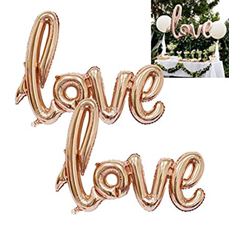 Yimosecoxiang New Valentine Love Letter Foil Balloon Engagement Wedding Birthday Party Decoration 513tiytOQBL