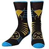 Wolverine with X-Men Logo Adult Crew Socks