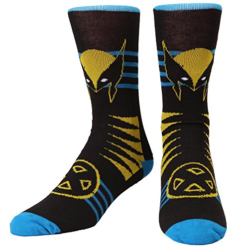 Wolverine with X-Men Logo Adult Crew Socks from Hypnotic Hats