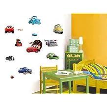 Fangeplus(TM) DIY Removable Disney Pixar Cars 2 Lightning Mcqueen Art Mural Vinyl Waterproof Wall Stickers Kids Room Decor Nursery Decal Sticker Wallpaper 23.6''x12.9''