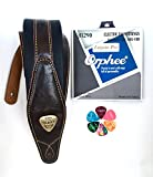 Bass Guitar Strap 3 Inches Wide, Electric Bass Guitar Strings 1 Set 45-100, 6 Guitar Picks