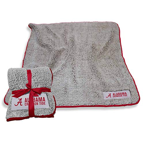 (Logo Alabama Crimson Tide NCAA Frosty Fleece 60 X 50 Blanket - Team Color )