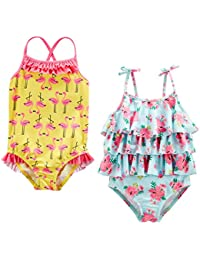 Girls' 2-Pack One-Piece Swimsuits