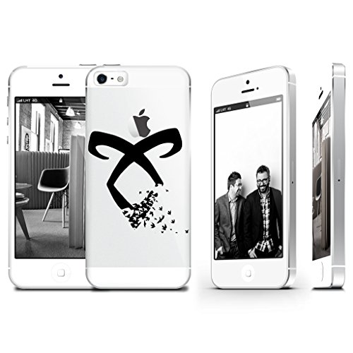 Shadowhunter Runes Angelic Power Clear Transparent Plastic Phone Case Phone Cover for Iphone 5Cs_ SUPERTRAMPshop (iphone 5C)