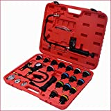 Cooling System Refill Kit Complete Set Radiator Pressure Tester Vacuum 27PCS With Case High Performance Professional Automotive Gear - House Deals