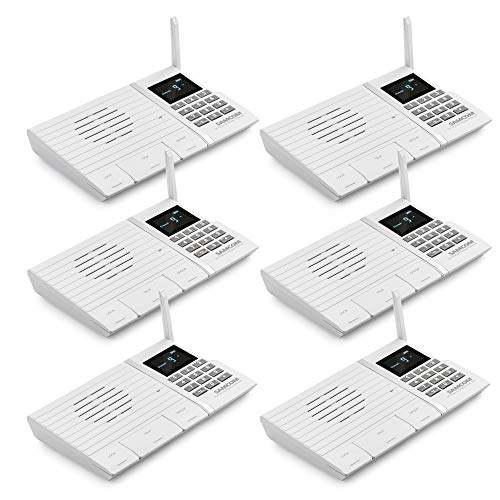 Samcom FTAN20A 20-Channel Wireless Intercom System for Home and Office White Pack of 6