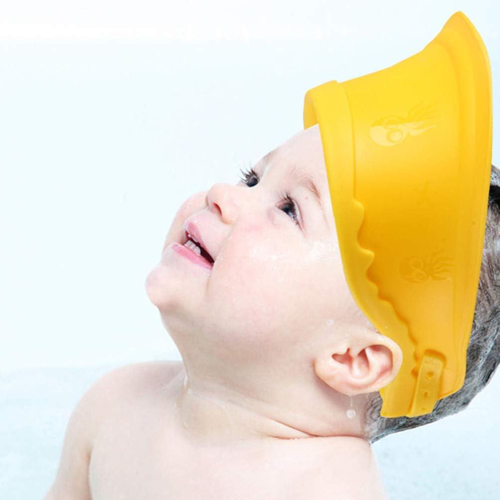 Artibetter B/éb/é Visi/ère de Bain R/églable Bonnet de Bain Protection Shampooing Chapeau de Douche pour Enfant en Bas /Âge Enfants Enfants Laver Les Cheveux Bouclier Deau