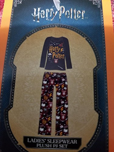 (Richard Leeds International Womens Harry Potter Super Minky Fleece Pajamas- Top & Pants, Gray and Maroon, X-Large / 16-18)