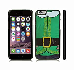 iPhone 6 Plus Case with Santa's Elf Green costume, Photo, Close-up , Snap-on Cover, Hard Carrying Case (Black)