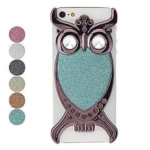 comprar Estuche negro owl pattern fogonazo duro para el iphone 5/5s , Púrpula